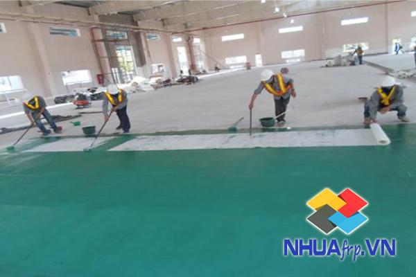 Chuyên thi công bọc phủ chống thấm composite nền nhà xưởng