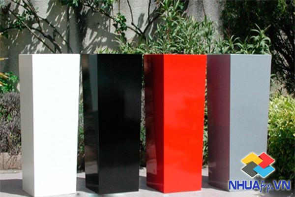Chậu hoa Composite kích thước 35x35x50